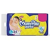 MamyPoko Standard Baby Diaper Pants, Large (9 - 14 kg) 34 Count