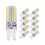 Ampoule G9 LED, ELINKUME 5W Blanc Froid 48 SMD 2835 LED Lampe 6000K Éclairage...
