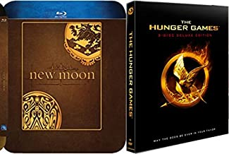 Hunger Games Deluxe & Twilight New Moon Steelbook Blu Ray Exclusive set
