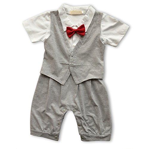 Lexikind baby rompertje smoking voor jongens: pak met vlinderdas voor kleine kinderen