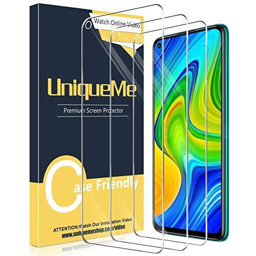[3 Pack] UniqueMe Compatible con Xiaomi Redmi Note 9 / Xiaomi Redmi Note 9T Protector de Pantalla, Vidrio Templado [9H Dureza] HD Film Cristal Templado