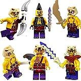 LEGO Ninjago: Set of 6 Anacondrai Warriors - Zugu, Eyezor, Krait, Kapau, Sleven & Chope