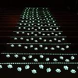 Paquete de 10 peldaños de Escalera de Alfombra Luminosa, Pinza de Respaldo de Goma Antideslizante, Alfombrilla Antideslizante, peldaños de Escalera, Alfombrilla de Escalera Lavable, cómoda y Suave