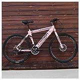 SOAR Bicicleta de montaña Bicicletas Mountain Bike MTB Los Hombres Adultos de Camino de la Bicicleta for Las Mujeres de 24 Pulgadas Ruedas Ajustables Doble Freno de Disco