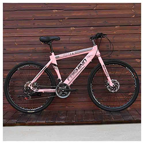 LILIS Bicicleta Montaña Bicicletas Mountain Bike MTB Los Hombres Adultos de Camino de la Bicicleta for Las Mujeres de 24 Pulgadas Ruedas Ajustables Doble Freno de Disco