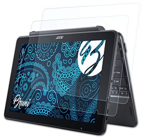 Bruni Schutzfolie kompatibel mit Acer One 10 S1003-130M Folie, glasklare Displayschutzfolie (2X)