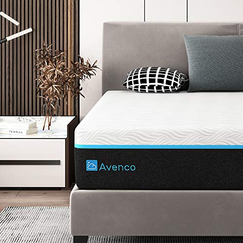 King Mattress, Avenco 12 Inch King Memory Foam Mattress in a Box, King Bed Mattress with CertiPUR-US Foam for Supportive, PressureRelief & Cooler Sleeping, 10-Year Support