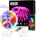 JESLED 16.4 Ft 5050 RGB LED Bluetooth Light Strips With RF Remote