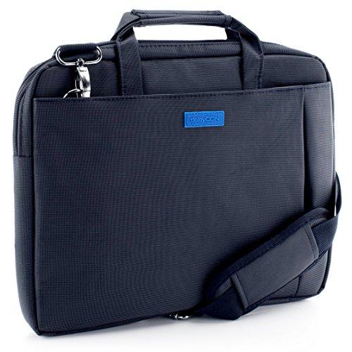"""deleyCON Notebook-Tasche bis 13,3"""" Zoll (33,7cm) Laptop Notebook Netbook Tragetasche Schultertasche Schutztasche Polyester Blau"""