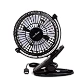 KEYNICE USB Desk Fan, 4 Inch Table Fans, Mini Clip on Fan,...