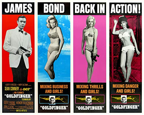 Decor 20'x30' Poster Reproduction Printed on Canvas James Bond 007.Goldfinger.6916