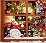 CMTOP Navidad Pegatina Calcomanías (358 pcs) para Ventanas Lindo Decoración de Ventanas Espiar...