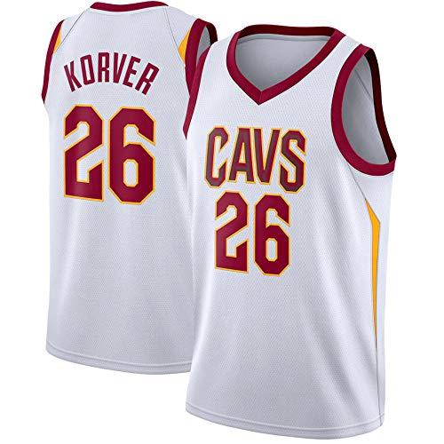 WSUN Camiseta De Baloncesto para Hombre NBA Cavaliers 26# Camiseta De Kyle Korver NBA Camisetas Sin Mangas Unisex Camisetas Deportivas Al Aire Libre Trajes De Competición Chaleco,XL