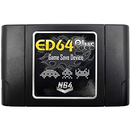 OSTENT PAL   NTSC ED64 Plus Game Save Device Cartridge Adaptador de tarjeta SD de 8GB compatible para juegos N64