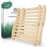 Ergonomische Sauna Rückenlehne - Die Perfekte Rückenstütze für sofortigen Wohlfühleffekt - Hochwertiges Sauna Zubehör aus 100% nordische Fichte für Infrarotkabine - Holz Lehne Saunazubehör
