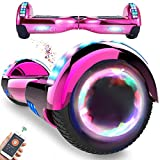 RangerBoard Hoverboard Enfant - 6,5' - Bluetooth - LED - Self Balancing Board Adulte - 700W - Smart Scooter Deux Roues - Skate Électrique Cadeaux Pas Cher - Certifié CE UL2272 - Rose Chromé