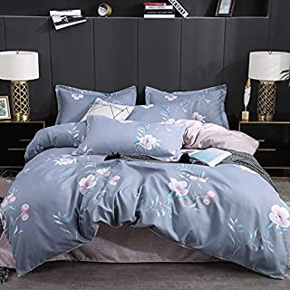 Sunny Lives 3 PC Duvet Cover Set, Luxury 100% Super Soft Double Brushed Microfiber,Beautiful Floral Pattern (Pretty Women,...