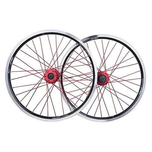 Juego de Ruedas de Bicicleta de 26 Pulgadas Ruedas de Ciclismo MTB de aleación de Aluminio V-Brake Disco de llanta Rodamientos sellados Bicicleta híbrida de 11 velocidades Touring (Color : Black)