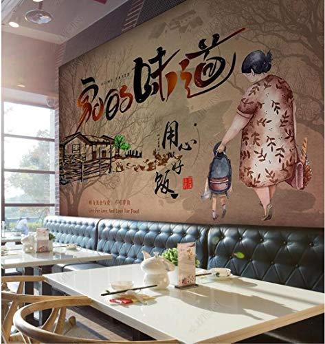 Aangepaste 3D fotobehang de smaak van thuis, bereiden maaltijden met hart, gastronomische gereedschap achtergrond muur-350Cmx245Cm