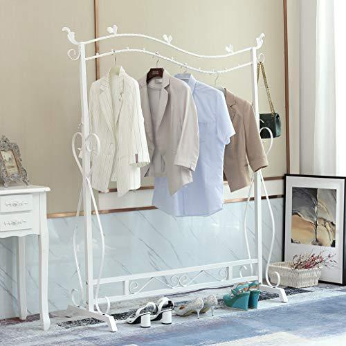 Loywe Kleiderständer im Vintage-Stil Garderobenständer Höhenverstellbar von 120 bis 160 cm und Schraubenschlüssel,Metall, LWK10W