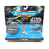 Star Wars Micro Machines Set x Lars Familia landspeder, T-16skyhopper & Estrella de la Muerte II