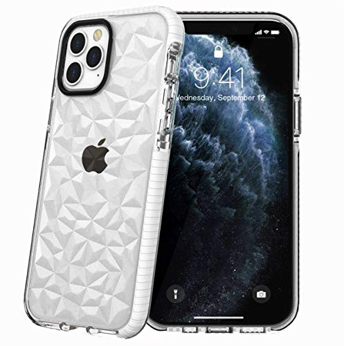 Superyong for iPhone 11 Pro MAX Case,iPhone 11 Pro MAX 3D Diamond Bling Case,Crystal Clear Soft TPU Anti-Scratch Shockproof Protective Cover for Women Girls Men Boys with iPhone 11 Pro MAX 6.5-White