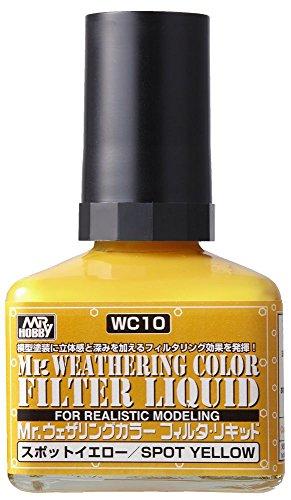 GSIクレオス Mr.ウェザリングカラー フィルタ・リキッド イエロー 40ml ホビー用塗料 WC10
