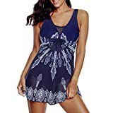 Zando Plus Size Swimwear Plus Size Bathing Suits with Flowy Skirts Sexy Swimsuit for Women Tummy Control Swimsuits Mesh Dress Slimming Swim Suits Summer 1 Piece Bathing Suit Navy White Mesh 18-20
