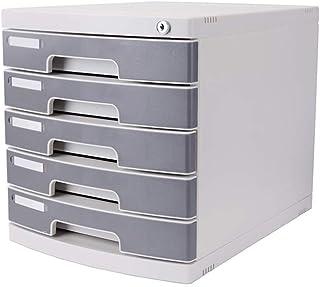 KANJJ-YU Bureau cosmétique Tiroir plastique, Rangement Organisateur tiroir Sorter A4 Boîte de bureau (7 couches Taille: 12...