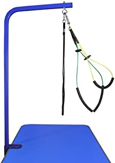 """Downtown Pet Supply Grooming Arm with Clamp (36"""" Adjustable Arm-Blue) and Dog Grooming Loop + Free Small/Medium No Sit Hau..."""