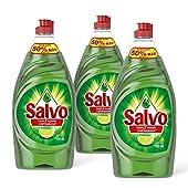 Salvo Lavatrastes Líquido Limón 2.25 L, paquete de 3x750ml