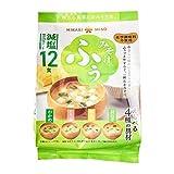 Kirei Hikari Miso Menos Salado 4 tipos de sopa instantánea de miso – 12 porciones de 167,4 g – cada uno con una rica mezcla de miso blanco dulce y un miso rojo más profundo