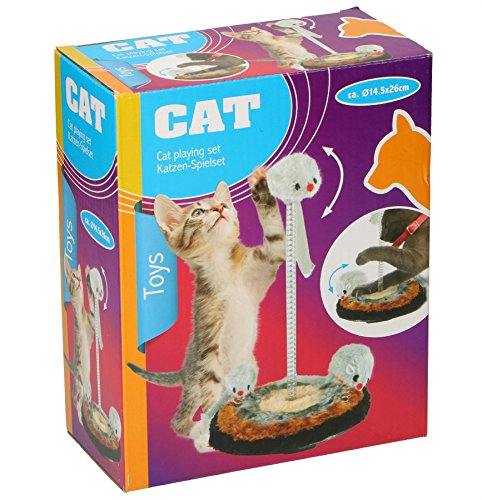 CAT PLAYING SET TOYS RAT KITTEN EASY TO FIX SPRING FIT CAT FUN PAY TIME
