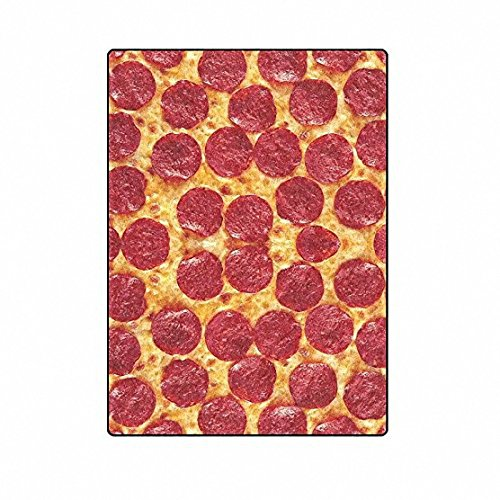 QH with Funny King Pizza Velvet Plush Throw Blanket(Large) Super Soft and Cozy Fleece Blanket Perfect for Couch Sofa or Bed