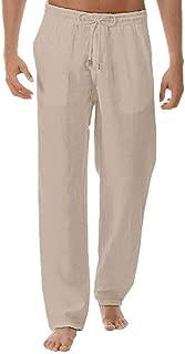 Pantalones Hombre, Pantalones Rectos Pantalon Lino Mens Color SóLido Estilo Simple Pantalon Outdoor Deportivo Mens Pantalones Bombachos Slim Fit Ligero Y Delgado Anchos PantalóN