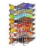CHSEEO 1PC Señuelos de Pesca Multi-articulado Cebo Duro Swimbait Cebo de Pesca Crankbait Gancho Agudos Cebos Artificial 7 Segmento 10 cm/ 15.5g (Colores aleatorios)#1
