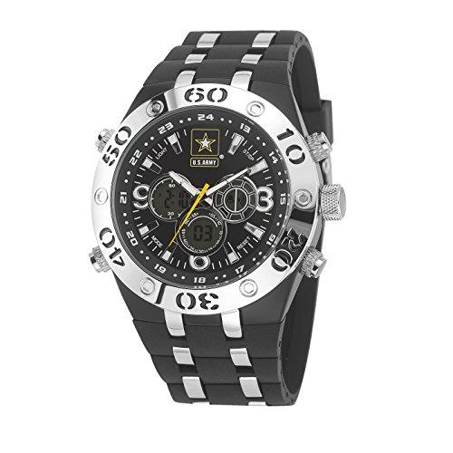 Wrist Armor Men's Japanese Quartz Silicone Strap, Black, 27 Casual Watch (Model: F2/1007)