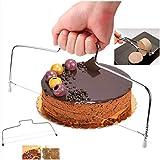 AVASAGS Tortenbodenschneider mit 2 Schneiddrähten Edelstahl Cake Cutter Kuchen- oder...