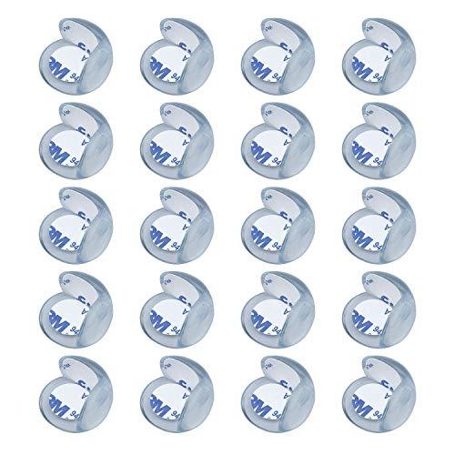 HENTEK 20 pièces de protection d'angle et de protection des bords silicone auto-adhésif 3M pour les coins de table et de meubles pour la sécurité des enfants