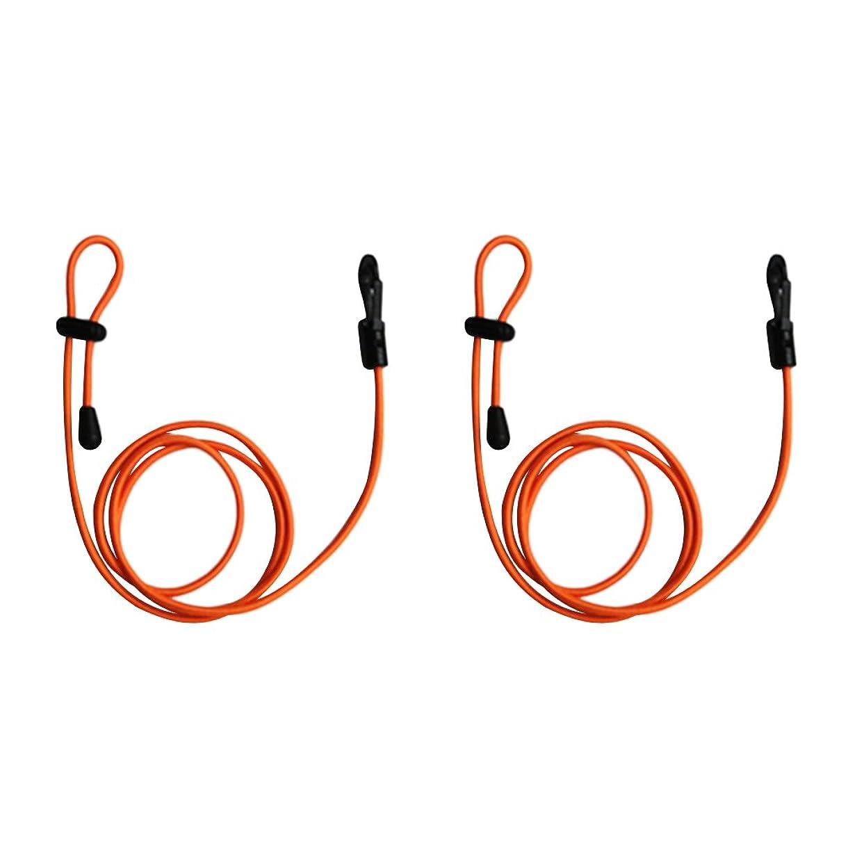 包囲オーチャード形式Lovoski 2本 カヌー ボート 釣り竿ストラップ パドルリーシュ コード リーシュ ロープ 1.2m 全5色 - オレンジ