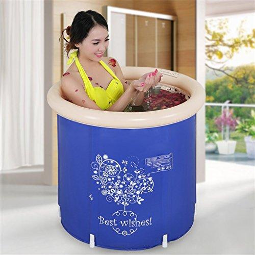 Piscine pour enfants bain gonflable épaissir adulte baignoire pliable enfant baigner baignoire plastique baignoire cadeau Four Seasons général bleu marine moderne simple Accueil