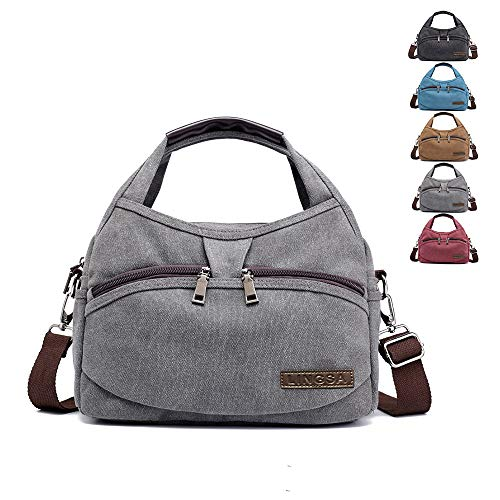Hobo Bag Canvas Handbag Canvas Purse Canvas Tote for Women, Satchel purses for women Top Handle Tote Shoulder Purse, Crossbody Bag Tote Bag Anti-theft Hobo Tote[Grey]
