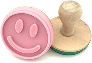 MENGMA Creative DIY Slicone Cookie Stamps Tasty Baking Mold Round Smiley Face Biscuit Bakeware