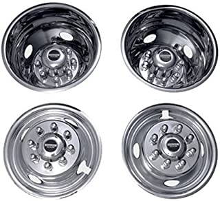 Pacific Dualies 32-1950 Polished 19.5 Inch 8 Lug Stainless Steel Wheel Simulator Kit for 1999-2002 Ford F450/F550 Truck