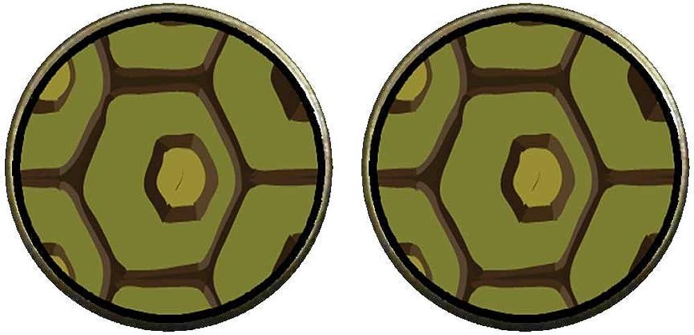 GiftJewelryShop Bronze Retro Style Tortoise Skin Photo Clip On Earrings 14mm Diameter