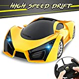 KULARIWORLD Remote Control Car, Drift RC Cars Toys for Kids,1/16 Scale 10KMH High Speed Super Vehicle with Led...