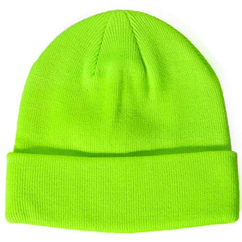 Paladoo Slouchy Beanie Hat Soft Warm Ski Cap (Lime Green)