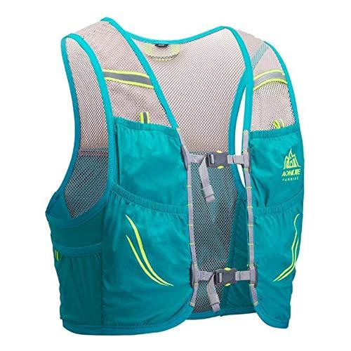AONIJIE mochila de hidratación de 2,5 litros, para maratoner, correr, carreras, chaleco de hidratación para correr, senderismo, con mochila de hidratación [para hombres o mujeres] (verde menta, M/L)