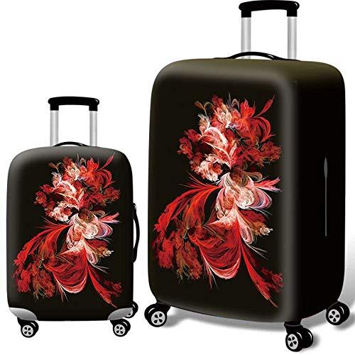 Cubierta protectora de equipaje Anti-arañazos de la cremallera Maleta protector en forma for el patrón de 18-32 pulgadas de equipaje elástico elástico de la flor de la cubierta del equipaje del viaje