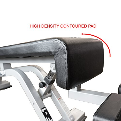 Valor Fitness DF-1 Adjustable Decline/Flat Bench for Weightlifting and Ab Crunches